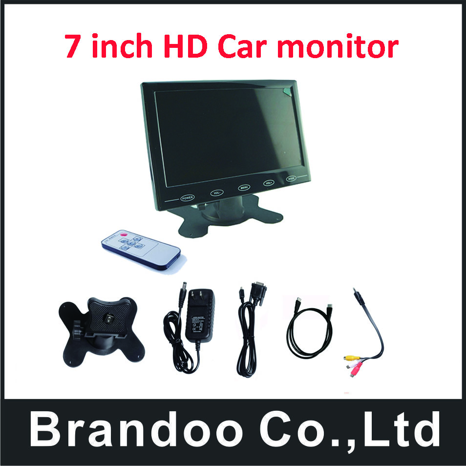 HDMI 7.0inch car monitor support HDMI/VGA/CVBS output. Resolution up to 1024X600 pixel,free,shipping