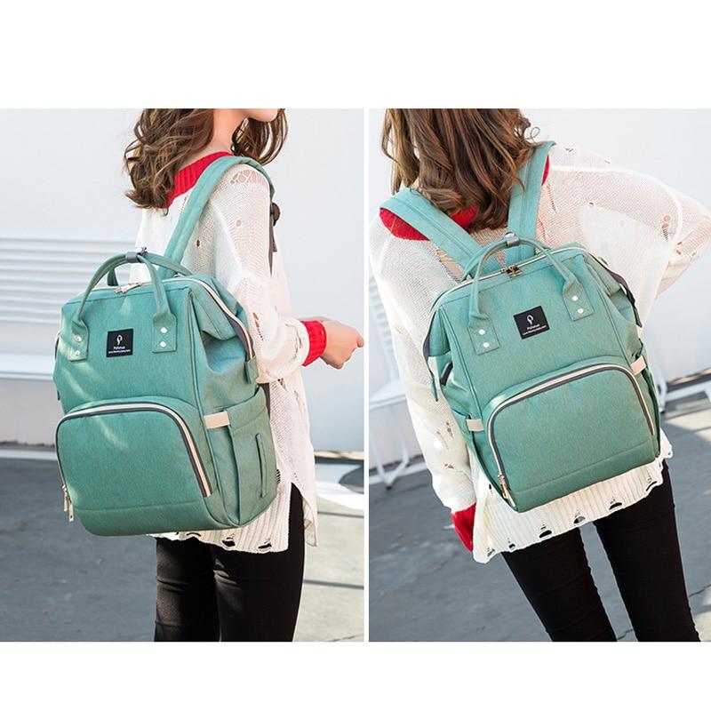 2018 Baby Diaper Bag With USB Interface Large Capacity Waterproof Nappy Bag Kits Mummy Maternity Travel Backpack Nursing Handbag 5