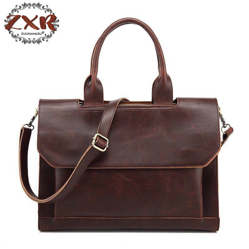 2018 New Brand Commercial Handbag Messenger Casual Vintage Casual Shoulder Briefcase Female Bag