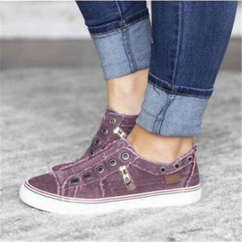 2019 Fashion Women Sneakers Denim Casual Shoes Female Summer Canvas Shoes Trainers Ladies single shoes Tenis Feminino 2