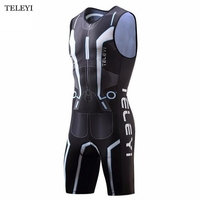 Triathlon Cycling Jersey Ropa Ciclismo One Piece Men's Compression Bicycle Jersey Sportswear Riding Sleeveless Bike Clothing