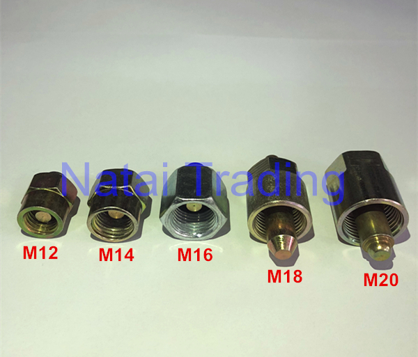 Common Rail Tube Plug Common Rail Injector Cap Common Rail Injector Tube Block-Off Tool Sealing Plug M12 M14 M16 M18 M20