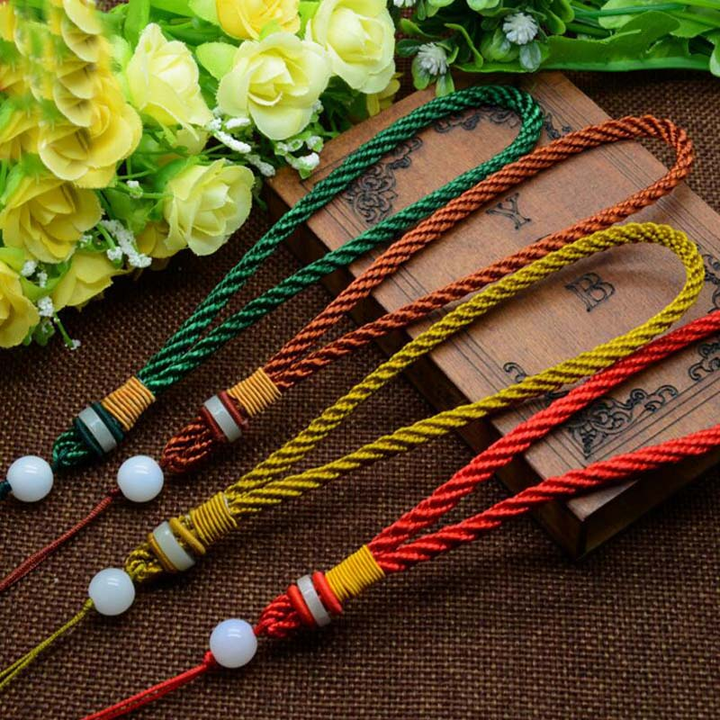 New Fashion 2 Pcs Handle Beaded Necklace Bracelet Pendant Jewelry Accessorie Lanyard Chain DIY Accessories Jewelry Components