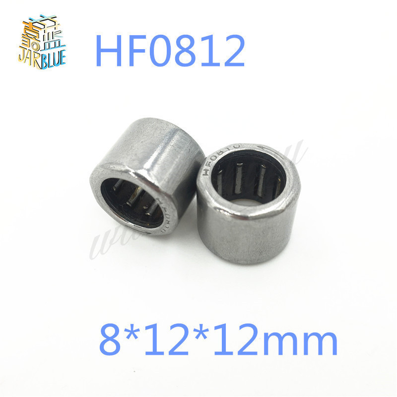 10pcs <font><b>HF0812</b></font> 8*12*12mm drawn cup needle roller bearing one way clutch for 8mm shaft HF081212 image