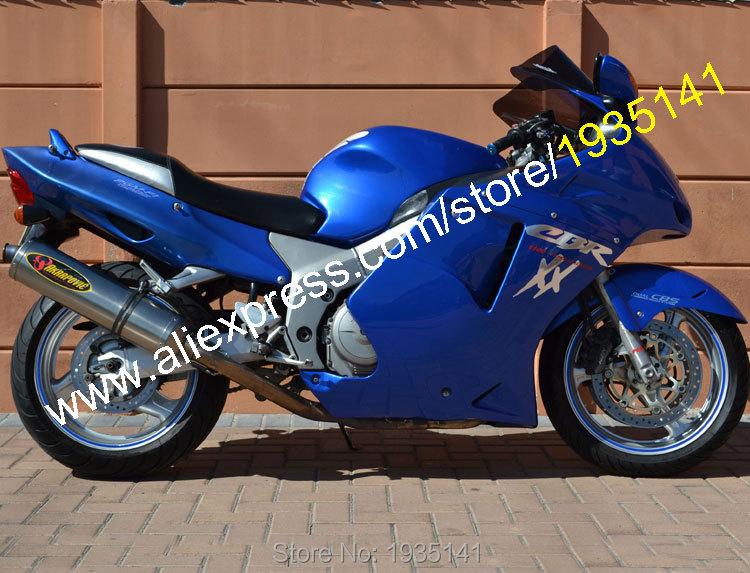 Hot Sales,For Honda CBR1100XX 96-07 Parts CBR 1100 XX 1996-2007 All Blue Blackbird ABS Motorcycle Fairing (Injection molding)