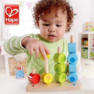 Enfant en bois intelligence bois jouet empilable & construction blocs numériques bébé jouets 2-4 ans