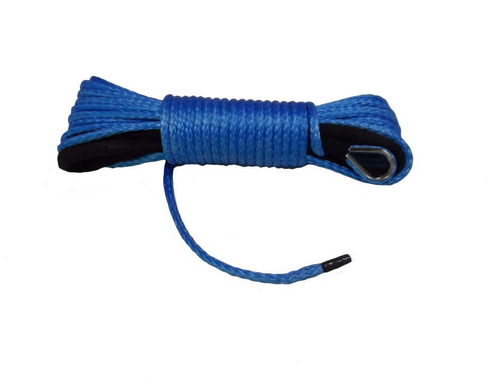 Free Shipping Blue 5mm*15m Synthetic Rope 4500lbs,Synthetic Winch Cable,Off Road Rope,Boat Winch Rope