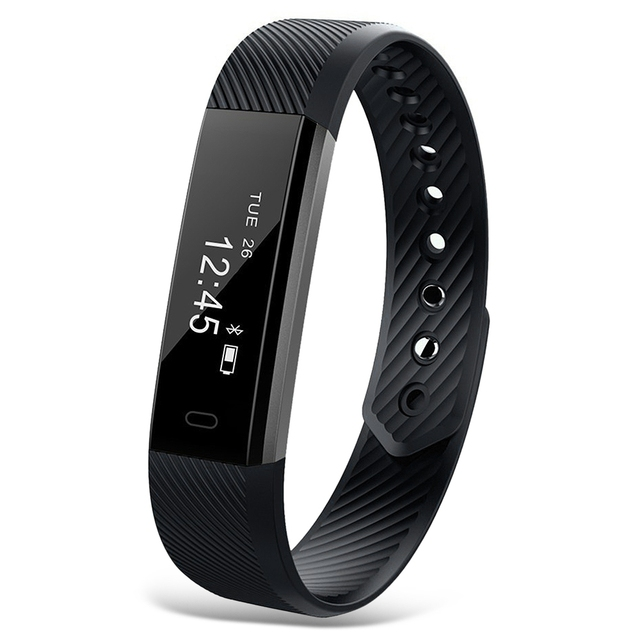 Smart Band ID115 Bluetooth Wristband ID115 HR Heart Rate Monitor Fitness Tracker Pedometer Bracelet For Phone pk FitBits mi 2
