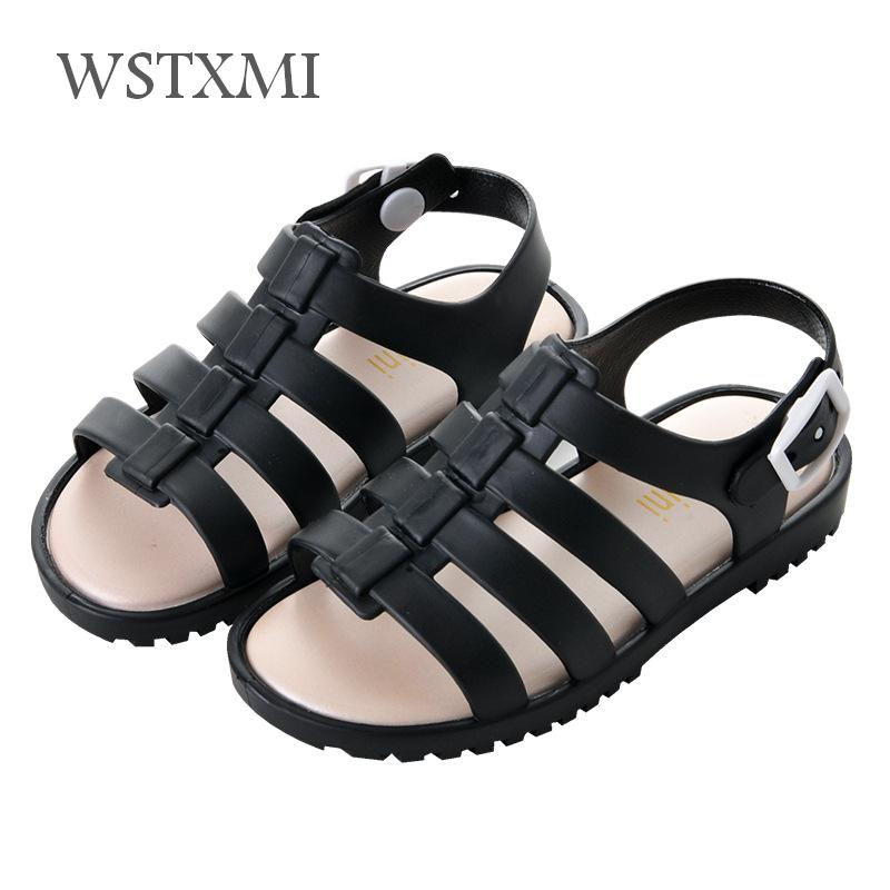2019 Summer Kids Sandals For Girls Baby Boys Beach Shoes Children Sports Soft PVC Non-slip Casual Rome Toddler Sandals 1-4 Years