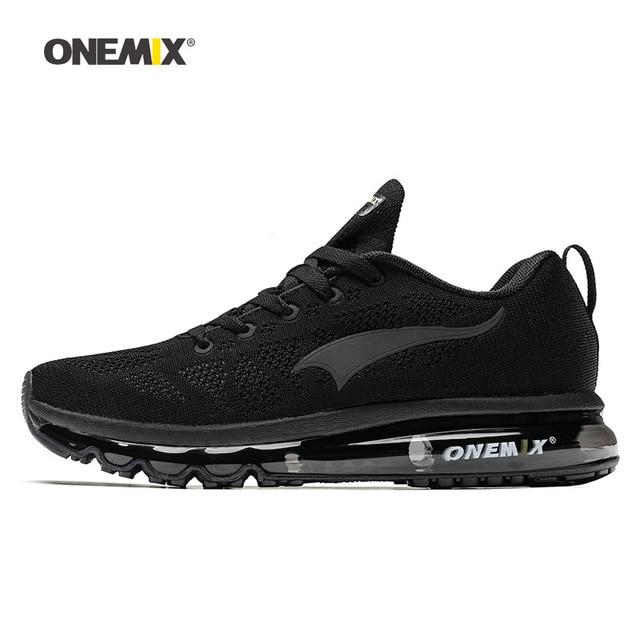 ONEMIX Для мужчин кроссовки для Для женщин хороший Zapatillas спортивные черные воздушной подушке; Уличная обувь кроссовки для бега, ходьбы