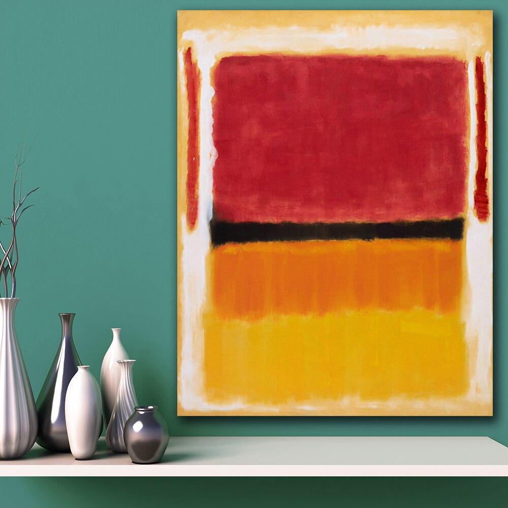 US $9.24 48% di SCONTO|Immagini a parete Per Soggiorno Astratta mark_rothko  (Viola, nero, arancione) Su Tela Arredamento Casa Moderna No Frame Pittura  ...