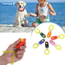 YVYOO Pet Dog toys Training Supplies Iron Clicker Plastic Dog Whistles Free Lanyard Interactive toys 1 pcs UH01