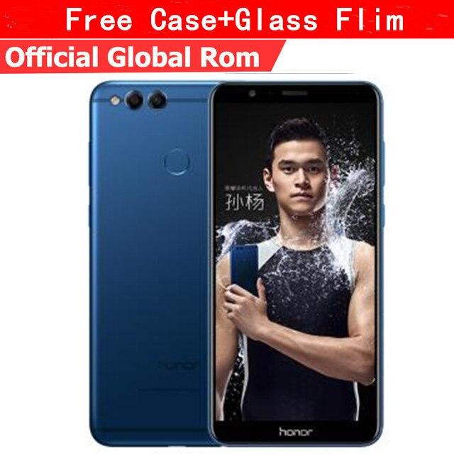 """Оригинальный HuaWei Honor 7X4G LTE мобильный телефон Kirin 659 Android 7,0 5,93 """"2160*1080 полный экран 4 Гб ram 128 ГБ rom отпечаток пальца"""