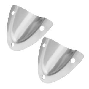 2Pcs Large Stainless Steel Mid