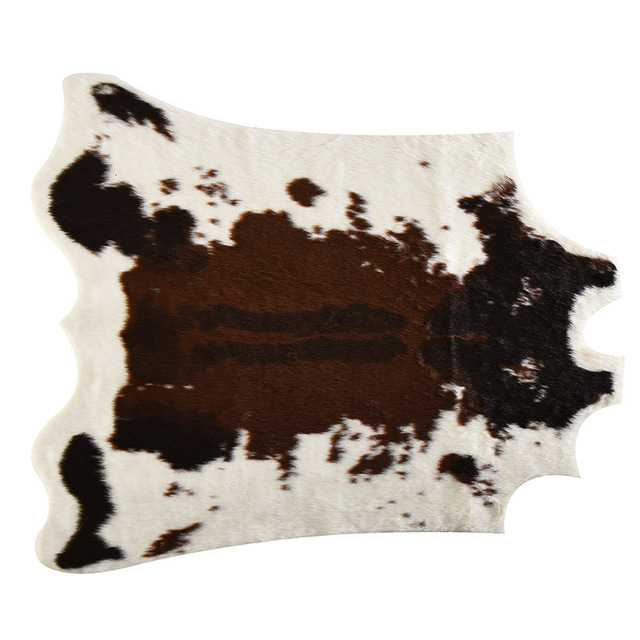large size 170x200cm cow Printed Cowhide faux skin leather NonSlip Antiskid Mat Animal print Carpet for home