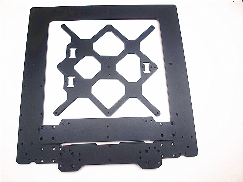Funssor  black 6mm thickness  Prusa i3 MK3 Aluminium alloy metal frame kit|3D Printer Parts & Accessories| |  - title=