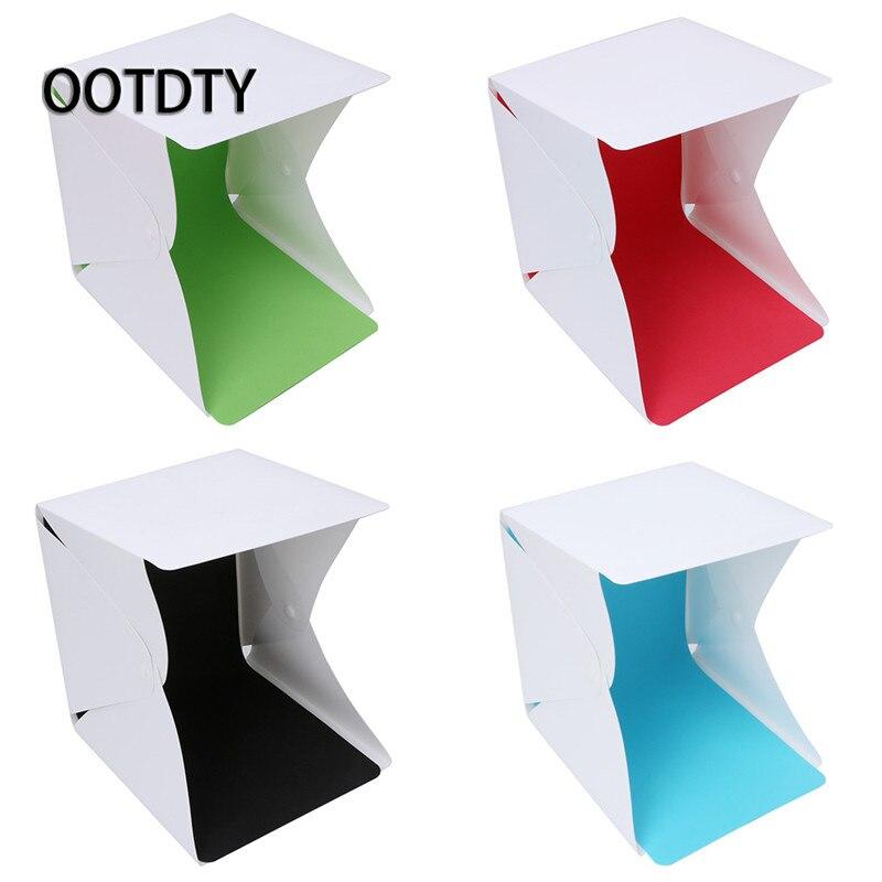 OOTDTY Tabletop Shooting Foldable LED Lightbox Light Room Tent Studio Photo Box Photography + 4 Backdrops