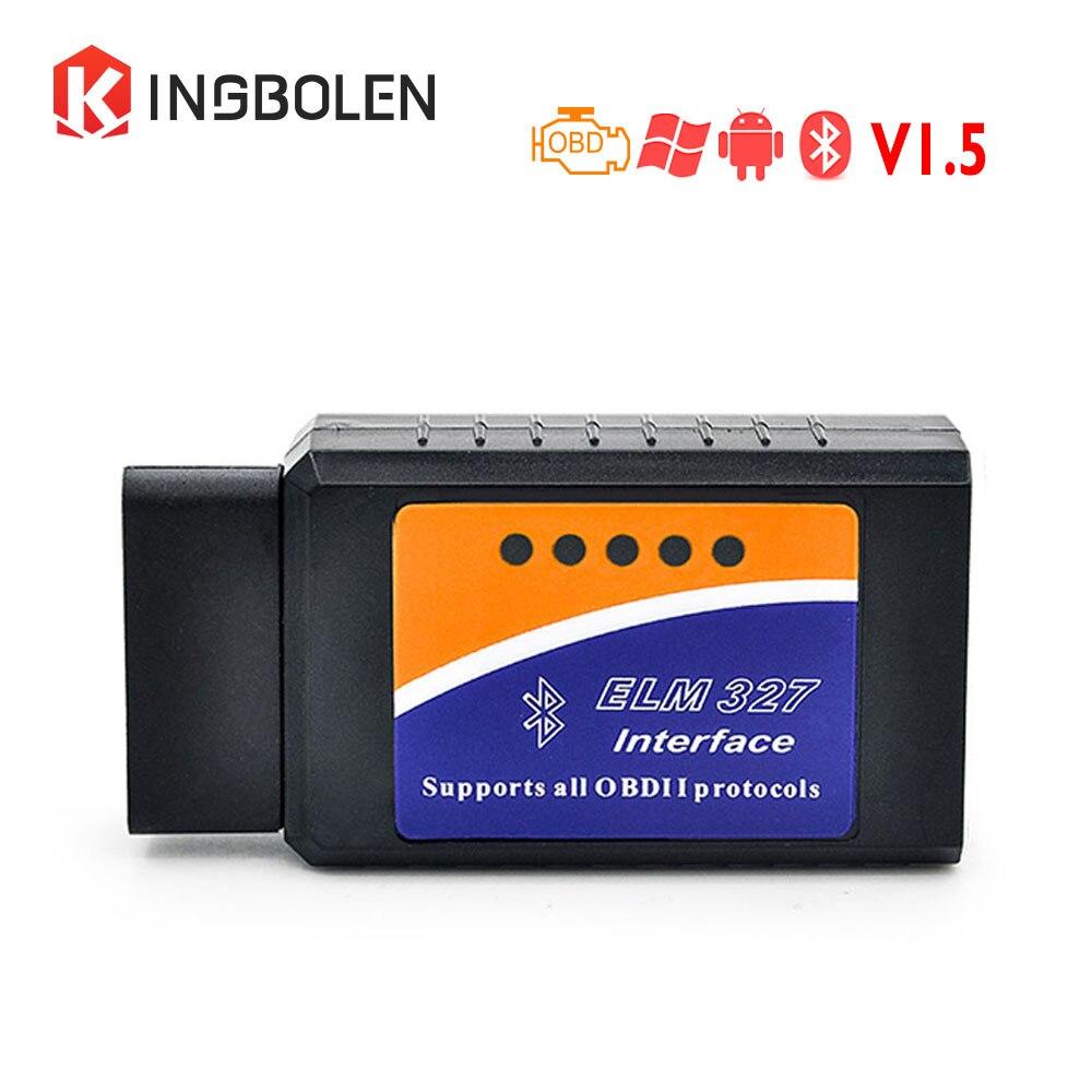 Prix pour Super ELM327 Bluetooth V1.5 PIC18f25k80 Puce OBDII OBD2 Diagnostic Scanner Prend En Charge J1850 Protocoles Scanner elm327 V1.5 Scanner
