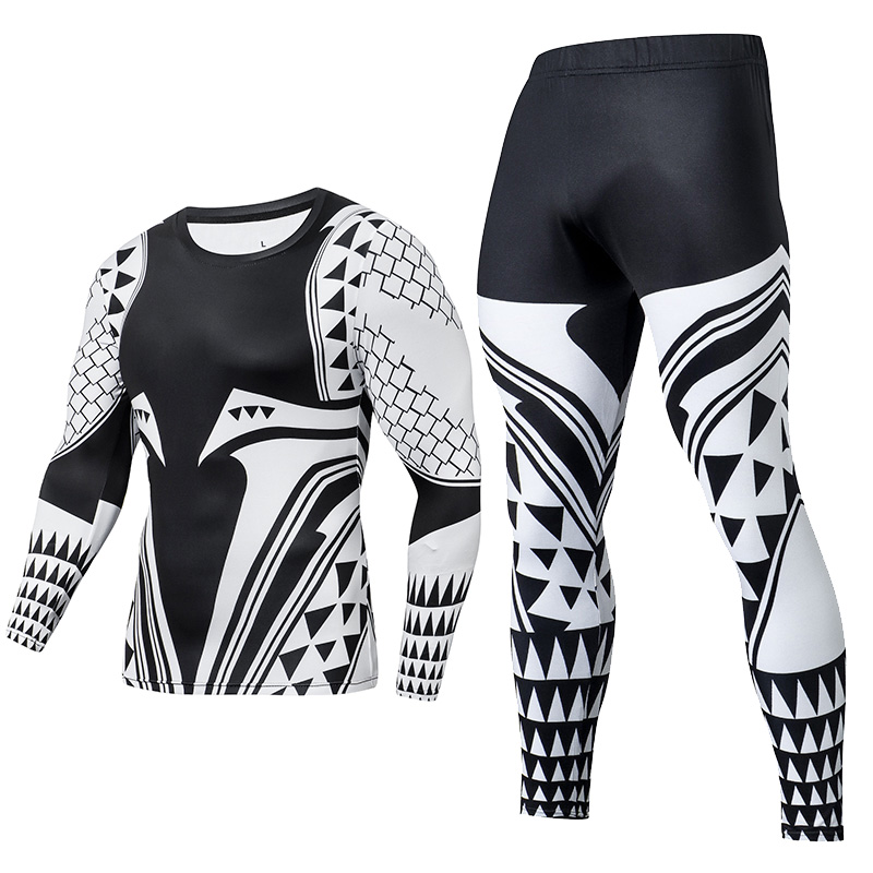 2019 New Arrival Fashion Jogging Training 2 Piece Tracksuit Mens Anti-pilling Anti-fading Gym Clothing Funny Cosplay Sets