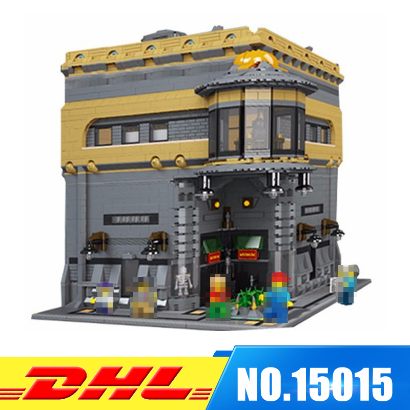 IN STOCK LEPIN 15015 5003Pcs City Street The Dinosaur Museum Model Building Kits Blocks Bricks Compatible Toys Gift dhl lepin 02038 1767pcs city series the city square education building blocks bricks toys compatible 60097 in stock