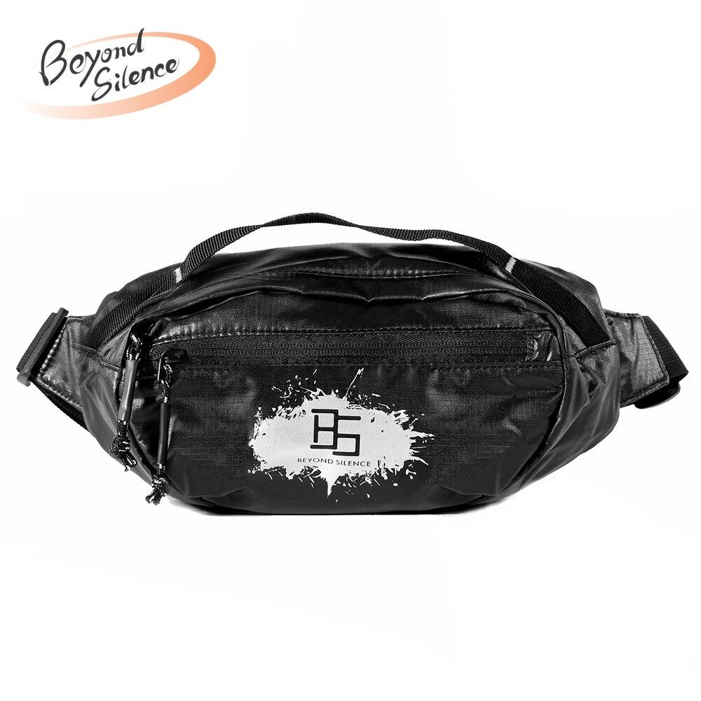 BS Waterproof Men Female Casual Functional Fanny pack Waist Bag Money Phone Belt pouch belt bag riñonera heuptas unisex Black