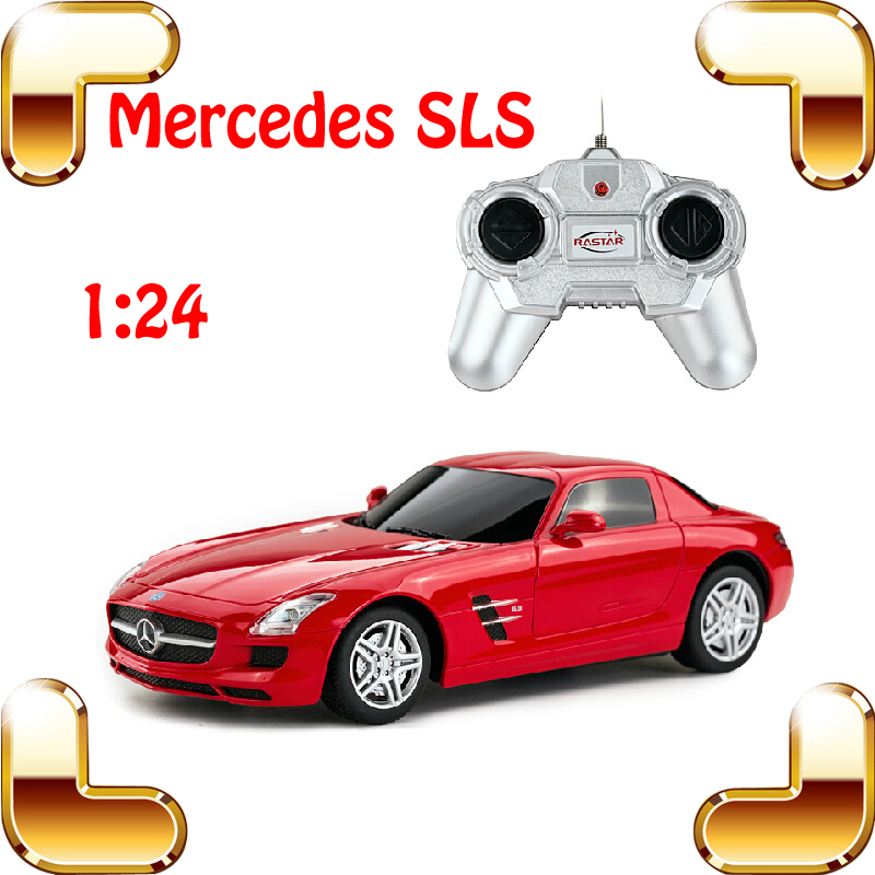 New Year Gift Rastar Mercedes SLS 1/24 RC Mini Roadstar Car Remote Control Toy For Kids & Boys Electric Drift Car Model