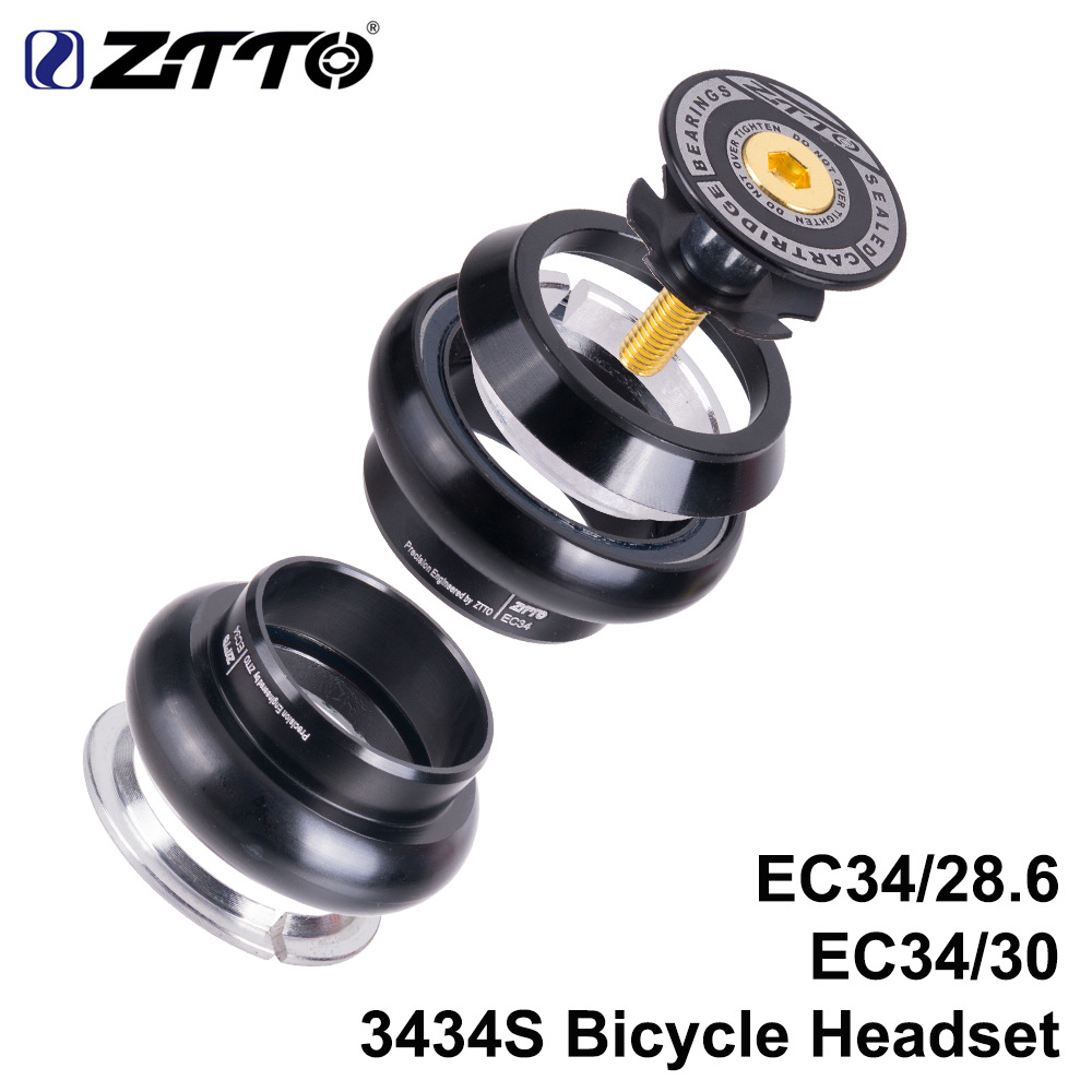 ZTTO road MTB bicycle headphones 34mm EC34 CNC 1 1/8 of 28.6 straight tube fork inside 34 conventional wireless headphones