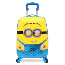 "16""18"" carry-on Kids luggage Children cartoon Travel Trolley Suitcase wheeled for girls Rolling luggage bags case Pull Rod Box"
