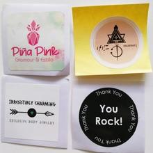 Заказной логотип/дизайн этикетки 30 мм круглые или квадратные формы бумажные наклейки с цветной печатью