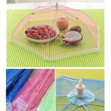 Meal cover Hexagon gauze table mesh Breathable food cover Umbrella Style Anti Fly Mosquito Kitchen cooking Tools Random Color
