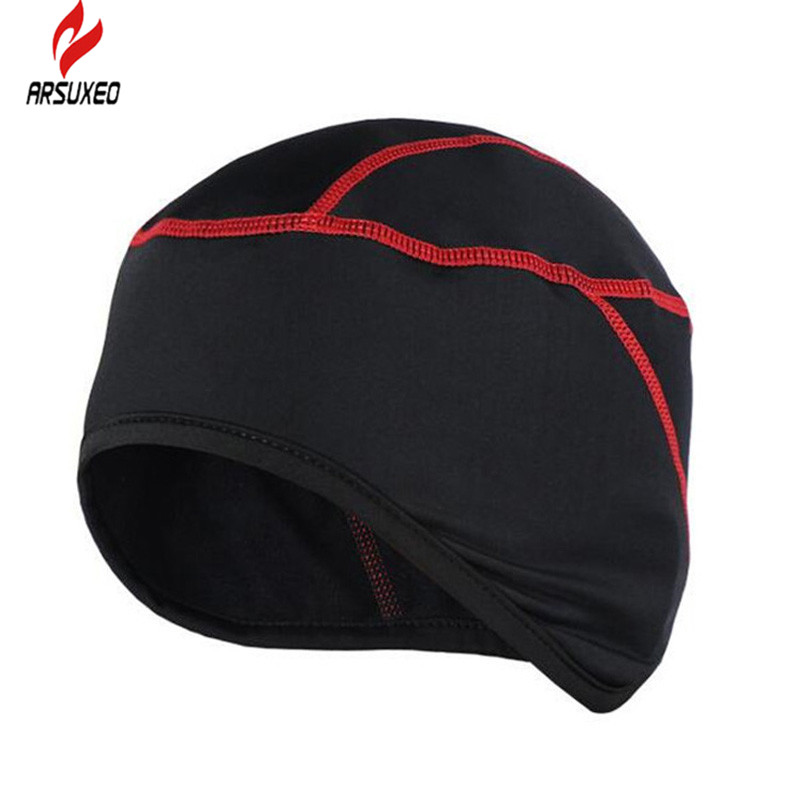 ARSUXEO Gore Bike Wear Universal SO Thermo Helmet Cap Winter Bike Cycling Bicycle Cap Outdoor BIke Hike Sports Keep Warm Hat outdoor sports winter thermal fleece warm ski hat earmuffs cycling cap windproof hiking riding snow cap men women knitted hat