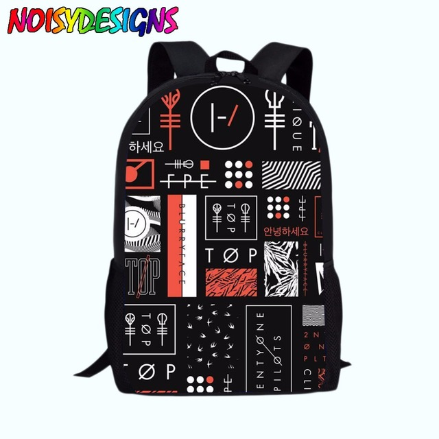 Twenty one pilots Backpack Girls Boys Mochila Backpacks Kids satchel  SchoolBag Large rucksacks school supplies Drop 66c635a656e72