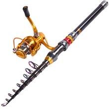 2.4m 3.0m 3.6m Stick Fishing Rod de Carbon Fiber Carp Feeder Spinning Fishing Rod Set Reel for China Best Sea Telescopic Pole
