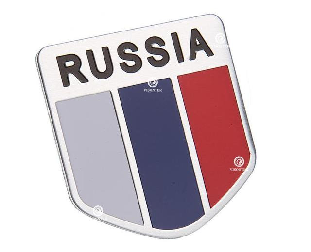 Automobiles russia car sticker 3d flag logo russian flag sticker on car covers label