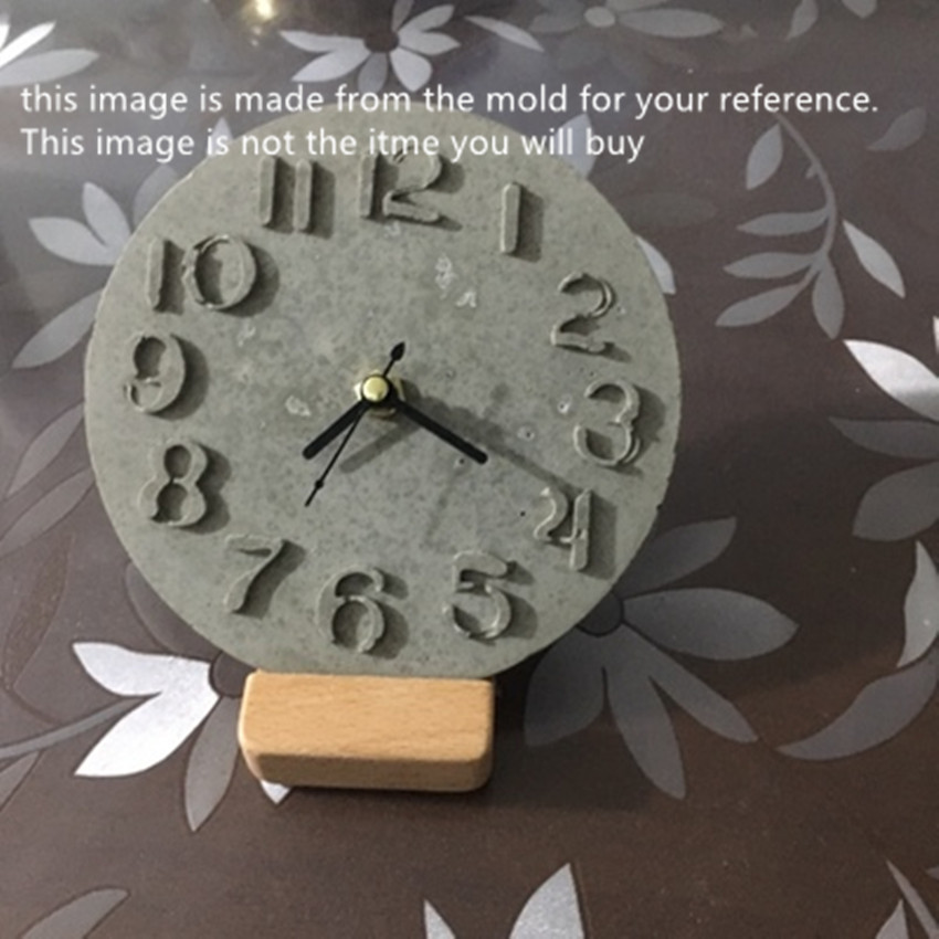 Wholesale DIY Craft Watch Resin Cement Mold Concrete Clock Silicone Mold Clay Mould in Clay Molds from Home Garden