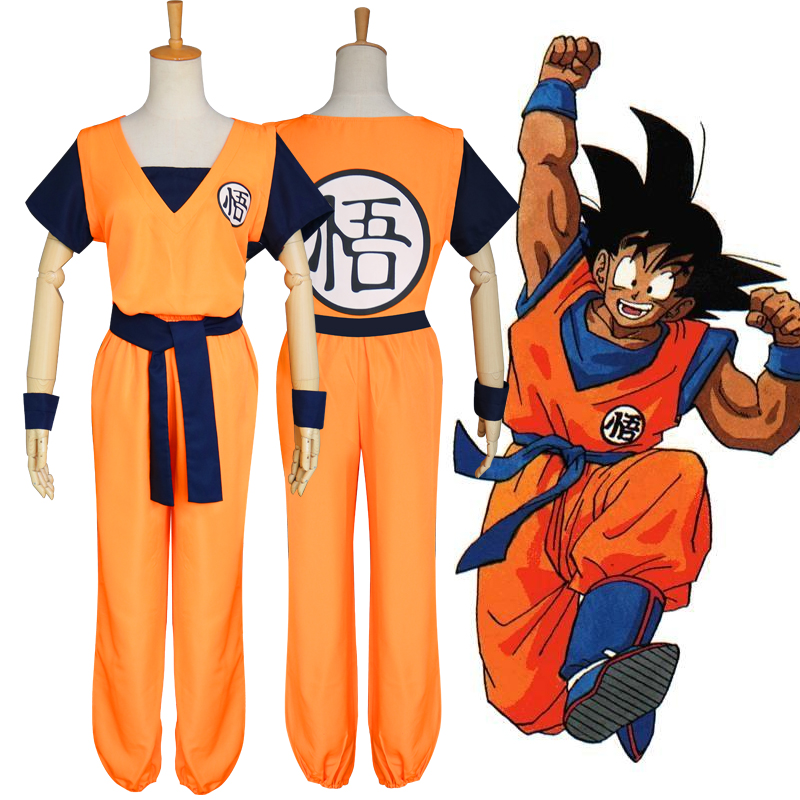 Anime Cosplay for Kung Fu Suit in Dragon Ball Casual with Wigs Boots Japanese Vestidos Costume Adult in Carnaval Halloween Party