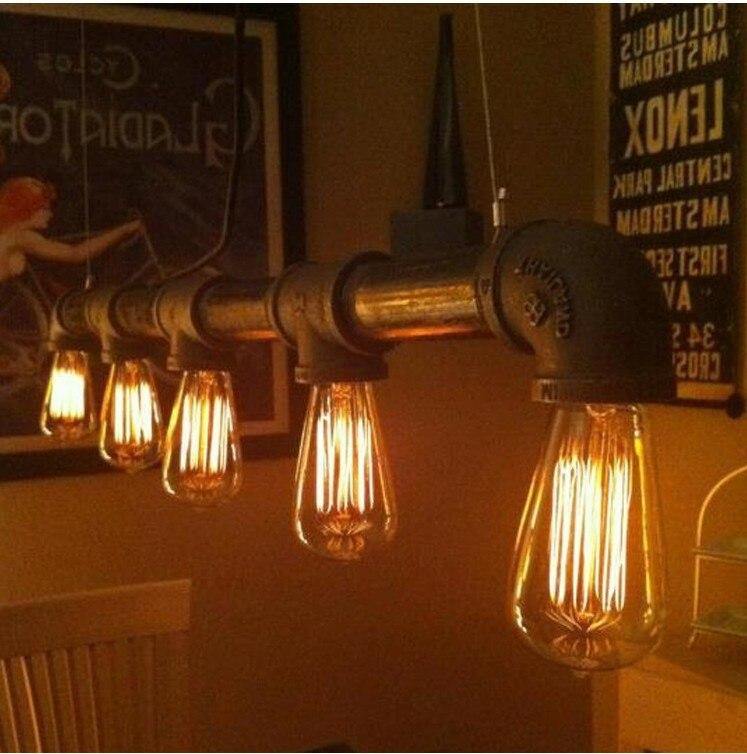 Винтажная Подвесная лампа в ретро стиле, Подвесная лампа E27 с держателем Эдисона, осветительный прибор для склада, столовой, KTV/бар