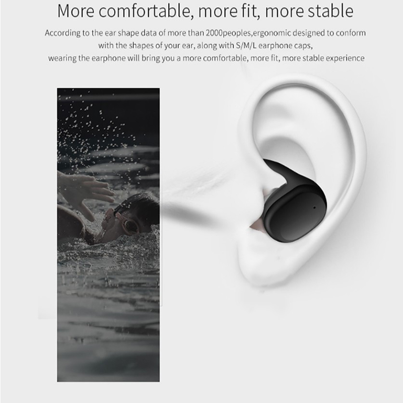 Wireless sports headset TWS mini Bluetooth headset IPX5 waterproof headset with microphone for iphone xiaomi mobile phone in Bluetooth Earphones Headphones from Consumer Electronics