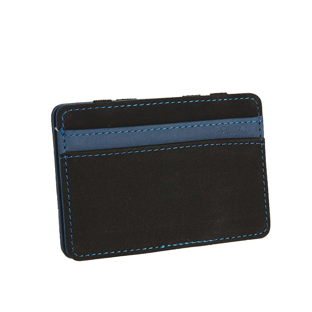 Card Thin Card Holder Minimalist Front Pocket Wallet Synthetic Leather Ultra Case Korean version of the creative short card hold the ghosts of medak pocket