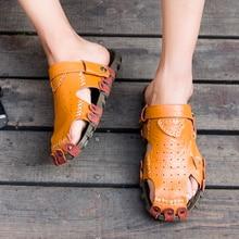 Classic Men Soft Sandals Comfortable Men Summer Shoes Leather Sandals Big Size Soft Sandals Men Roman Comfortable Men Summer keerygo new high end leather comfortable feet sandals classic sandals