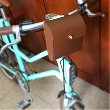 Foldable Bike Bag Leather Bicycle Handlebar Classic
