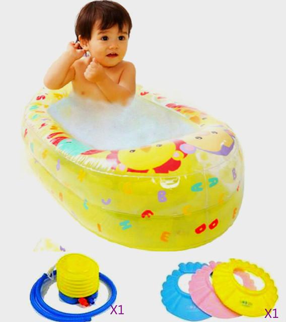 Verão Inflável Piscina Banheira de Bebê Crianças Portátil 0-3 Idade Crianças banheira Espessamento Dobrável Crianças Bacia Criança banheira