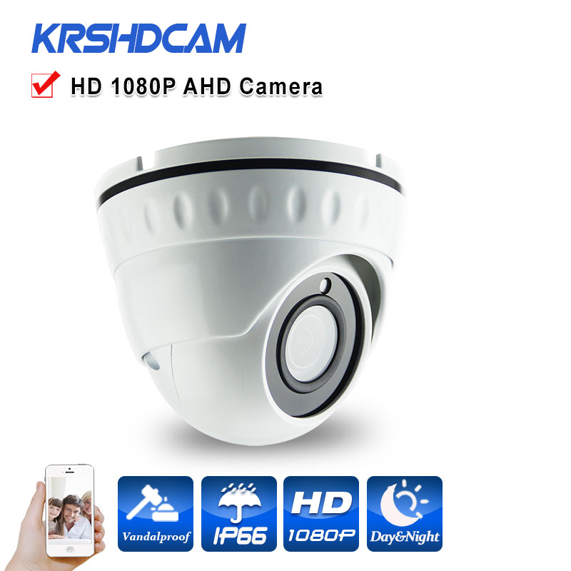 MINI AHD Camera 2mp Full HD 1080p room dome analog sony IMX323 indoor vandalproof 24leds Night Vision HD Lens cameras seguranca