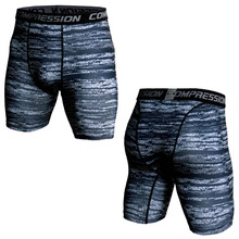 3D Camo Compression Tights Sports Legging Men 2019 Summer Running Shorts Men Breathable Short Pants Skin Tight Camouflage Shorts