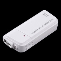 Universal Portable USB Emergency 2 AA Battery Extender Charger Power Bank Supply Box For iPhone Mobile Phone MP3 MP4 White Mobile Phone Chargers
