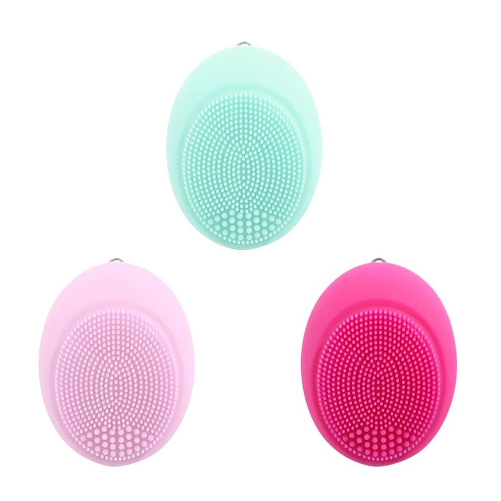 Three Colors Electric Face Brush Women Silicone Facial Cleansing Massager Brush Skin Care Cleanser Dirt Remove Exfoliator Brush skin care electric face brush ultrasonic cleansers whitening oil control electric facial cleansing brush face care machine