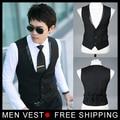 Men's Suit Formal Vest Casual Vest Slim Fit Luxury business Dress Waistcoat Vest for men with 3 buttons M-XXXL Free shipping