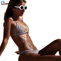BANDEA 2018 Micro Bikini Swimwear Women High Cut Bikini Set Gold Silver Gilltter Swimsuit Sexy Thong
