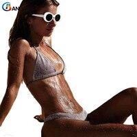 BANDEA 2018 Micro Bikini Swimwear Women High Cut Bikini Set Gold Silver Gilltter Swimsuit Sexy Thong