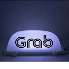 5V 12V Waterproof grab Light LED Roof Sign Grab Taxi Dome Light With 3 Meter power plug line super bright used smart taxi meter with printer taxi fare meter calculator lcd display taxi fare meters